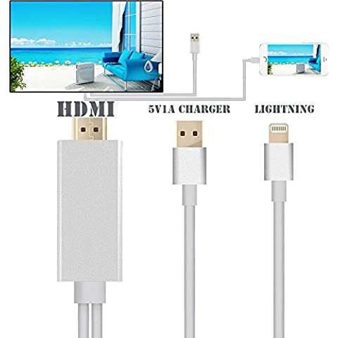 Lightning To HDMI 2M AV TV HDTV Adapter Cable For ios 10 iPad/iPhone 5S 6 6P 6S With USB Charger Cable