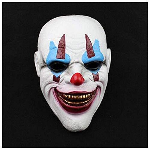 YaPin Deutsch Clown Harz Maske Halloween Prom Bar Prop Joker Clown deutsche Maske