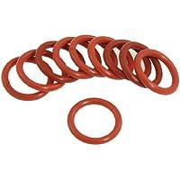 10 Pcs 27mm OD 3.5mm Dicke Rot Silikon O-Ringe Wellendichtringe Dichtungen