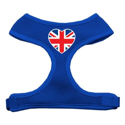 Mirage Herz Flagge UK Screen Print weichem Mesh Geschirr (Herz-dog Harness)