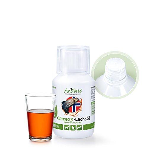Aniforte Omega-3 Lachsöl 100 ml für Katzen, Hunde und Pferde, Kaltgepresst, Reich an EPA, DHA und ALA Fettsäuren, Barf Ergänzung