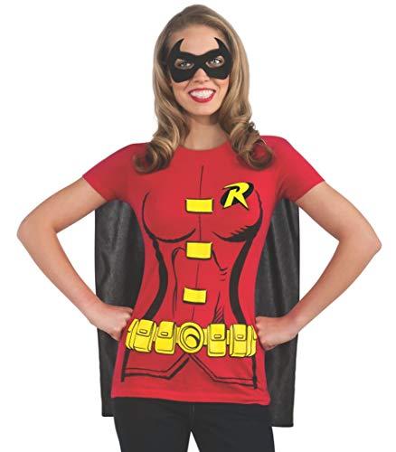 Frauen Spaß Kostüm - Rubie 's Offizielles Damen Robin T-Shirt Set, Erwachsene Kostüm-Kleine