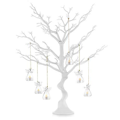 Albero decorativo per tavolo da pranzo per matrimoni/feste, decorazione per alberi finti scrivania di iscrizione, albero dei desideri staccabili, decorazione bianca per alberi artificiali