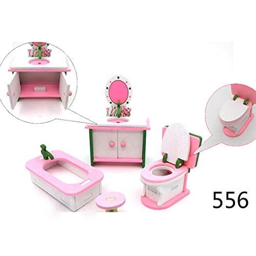 Haushalt, Möbel (Fantiff Kinder Puppenhaus Simulation Möbel Spielzeug Badezimmer Schlafzimmer Küche Set Haushalt Spielzeug Typ 10)