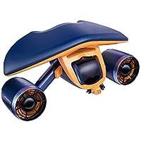 Dispositivo eléctrico submarino Vespa 40m Profundidad extrema Doble Hélice fuerte poder Batería de larga duración bajo el agua autopropulsada SKYJIE (Color : Blue)