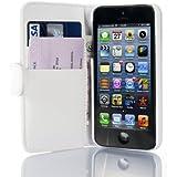 iPhone 5 Hülle, JAMMYLIZARD Ledertasche Flip Cover für iPhone 5 / 5s und SE, WEISS