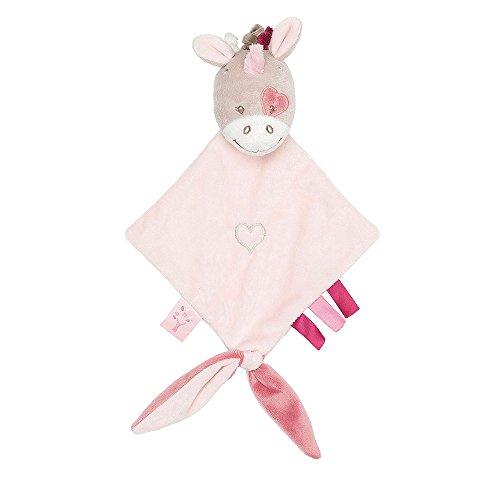 Nattou Kleine Schnuffeltuch Mädchen, 25 x 20 cm, rosa - Jade der Einhorn