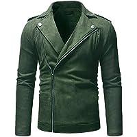 TWBB Herren Bomber Jacke Einfarbig Mode Trenchcoat Slim Fit Vintage Klassisch Blusen Jacket