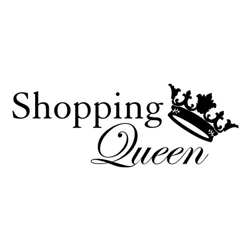 Küche Queen (kleb-Drauf® | 1 Shopping-Queen | Schwarz - matt | Wandtattoo Wandaufkleber Wandsticker Aufkleber Sticker | Wohnzimmer Schlafzimmer Kinderzimmer Küche Bad | Deko Wände Glas Fenster Tür Fliese)