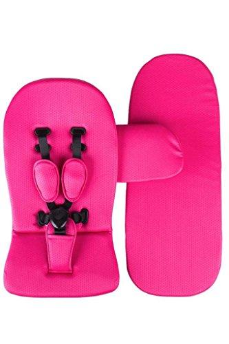(Mima Starter Kit / Sitzauflage + Gurt + Matratze für Kinderwagen XARI + KOBI (Hot Magenta))