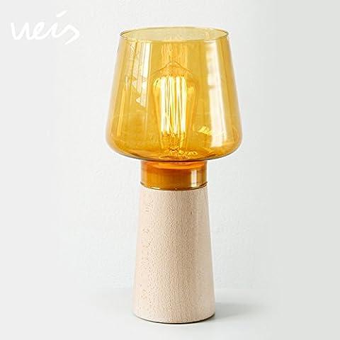 NASEN Blocco alto registra LED tavolo lampada soffiato vetro paralume
