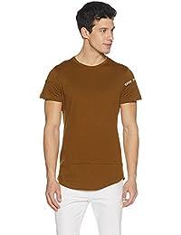 Amazon Brand - Symbol Men's Printed and Layered Longline T-Shirt