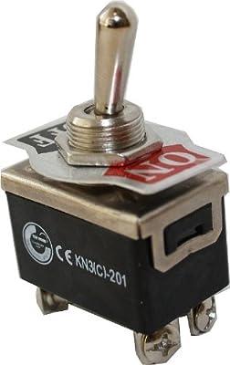 Kippschalter Schalter 2xUM EIN / AUS 10A / 6A 125V / 250V KN3C-201 von edi-tronic - Lampenhans.de