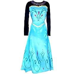 Inception Pro Infinite Talla XL - Disfraz - Traje Coronación Elsa - Mujer - con Capa - Disfraz - Traje - Carnaval - Halloween - Cosplay - Princesa - Frozen