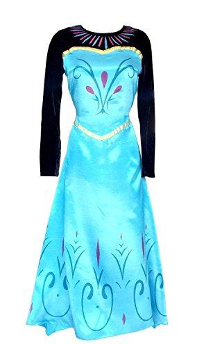Inception Pro Infinite Größe M - Kostüm Krönung ELSA - Frau - Mit Umhang - Verkleidung - Karneval - Halloween - Cosplay - Prinzessin - Frozen