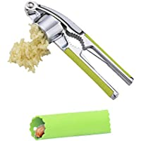 Prensa y machacador de ajos de Aleación de zinc Propresser,Cascanueces de acero -Peeler del ajo del silicón rallador de ajo del ajo