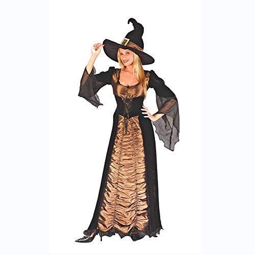 Hexe Sexy Kostüm Glamour - Fashion-Cos1 Halloween Frauen Hexe Kostüm Glamour Königin Hexe Vampir Uniform Kleid Deluxe Set Maskerade Rollenspiel Uniform (Size : M)