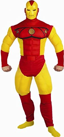 Super Deluxe Iron Man Costume - Déguisement Iron Man Muscle Deluxe