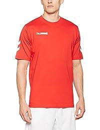 Hummel T-shirt Coton–Core Cotton Thé–T-Shirt d'entraînement manches courtes T-shirt–Fitness pour le sport et les loisirs–Maillot de sport div. couleurs–Tshirt col rond