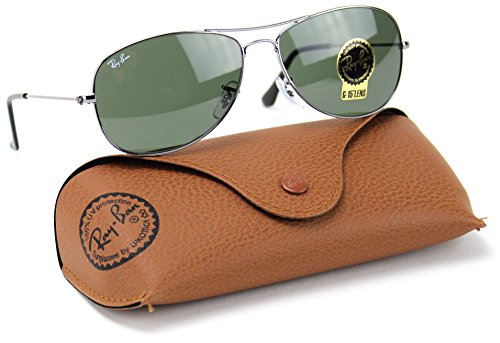 Ray-Ban RB3362 004 Cockpit Sunglasses Gunmetal Frame / Crystal Green Lens 59mm