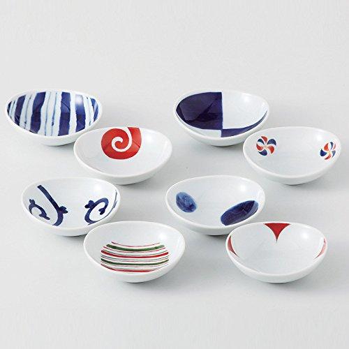 Saikaitoki Somenishiki Muster Schüssel-Set (8Schalen, 8Mustern) aus Japan 13307 - Japan-muster