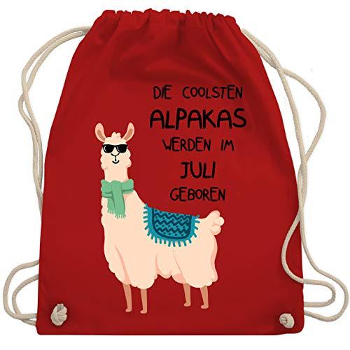 Geburtstag - Die coolsten Alpakas werden im Juli geboren Sonnenbrille - Unisize - Rot - WM110 - Turnbeutel & Gym Bag