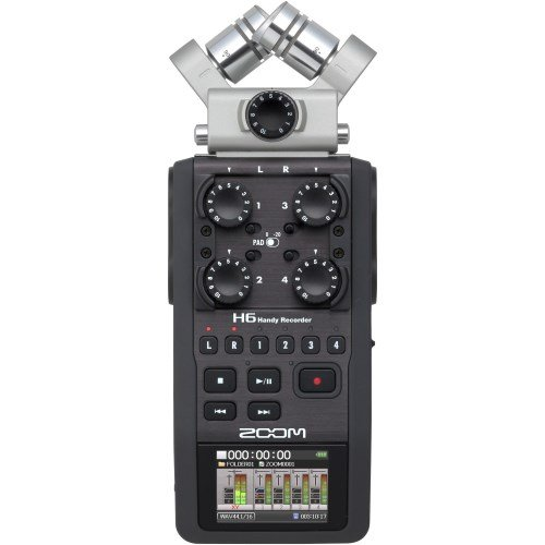 Zoom H-6 - Handy Recorder - MP3 - Wave Recorder - - Dj-audio-recorder