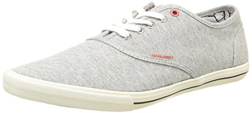 JACK & JONES Jjspider Canvas Sneaker, Herren Sneakers, Grau (Light Grey Melange), 42 EU (8 Herren UK) (Herren Leinen Schuhe)