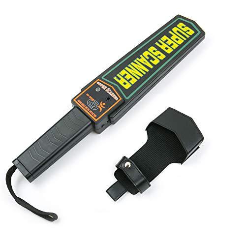 Wand detector de metal de mano, portátil, funciona con batería, escáner de superseguridad/sensibilidad...