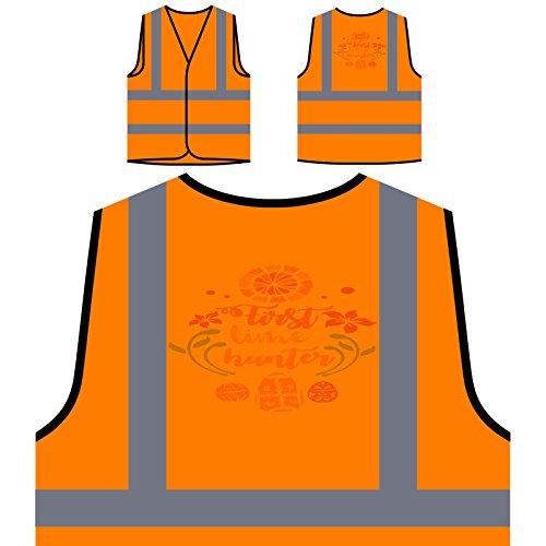 first-time-hunter-personalized-hi-visibility-orange-safety-jacket-vest-waistcoat-j779vo