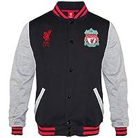 Liverpool FC - Chaqueta deportiva oficial para niño - Estilo béisbol americano - Negro