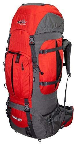 Mount-flasche (Tashev Outdoors Trekkingrucksack Wanderrucksack Mount 100 Plus 20 Liter aus Cordura inkl. Regenhülle (Rot & Grau))