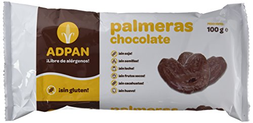 Palmeras de chocolate sin gluten ADPAN (4 paquetes de 100 gr)