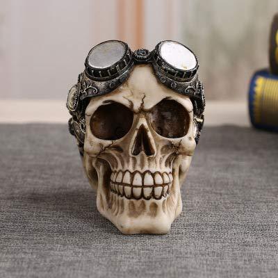 (Wanson Resin Skull Dekoration Schwimmbrille Skull Skeleton Replica Modell Am Tag der Toten Halloween Kostüm Partys, Karneval, Weihnachten, Ostern 410G)