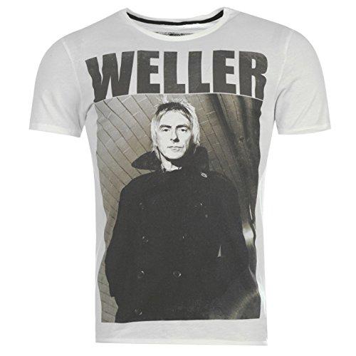 Paul Weller alle Mod T-Shirt Herren weiß Musik Top Tee T Shirt - Mod Top Shirt
