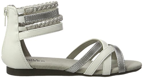 Bullboxer Aed009f1s, Sandales  Bout ouvert fille Weiß (white/silver)