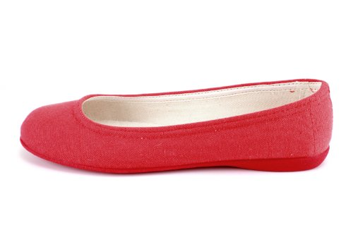 Andres Machado - AM527 - Leinen Ballerinas in verschiedenen Farben - MADE IN SPAIN Rosenrot