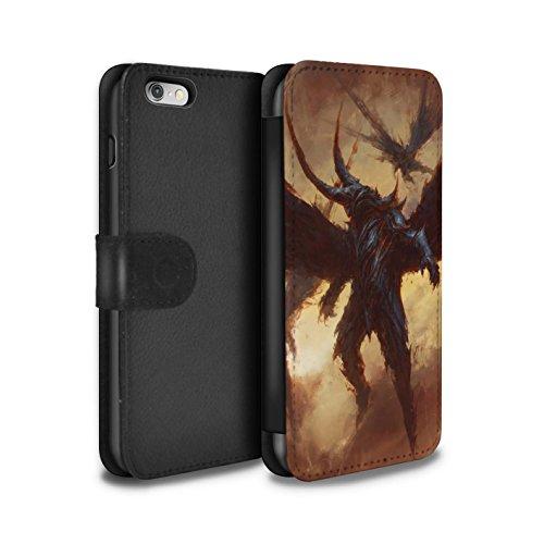 Offiziell Chris Cold PU-Leder Hülle/Case/Tasche/Cover für Apple iPhone 6S / Vampirfledermaus Muster / Wilden Kreaturen Kollektion Flügel von Nox