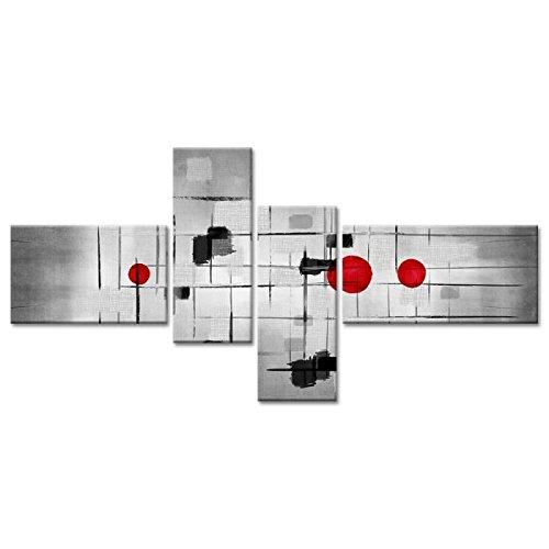 ABSTRAKT Tableau multi panneaux 130x65 cm gris abstrait