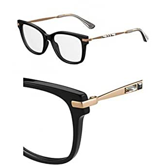Jimmy Choo plastica Cat Eye occhiali da vista 53006K nero oro Cop