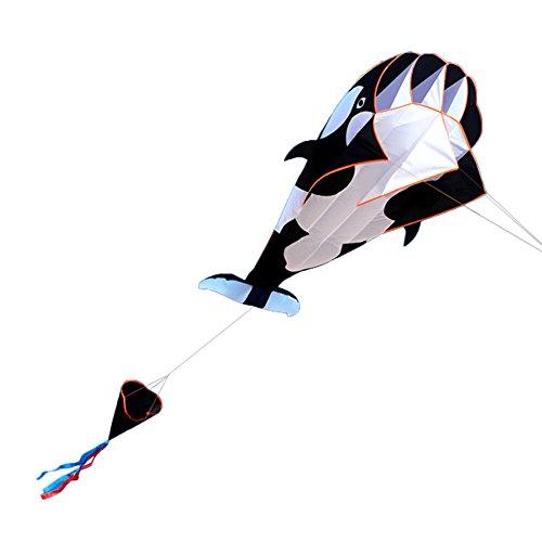 Lixada 3D Kite, Flugdrachen, Riesige Rahmenlose Weiche Parafoil Riesige Whale Flying Kite