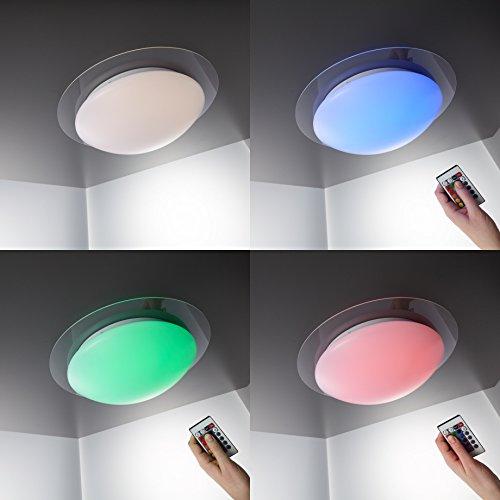 LED Deckenleuchte Lampe Dimmbar Farbwechsel 16 Farben Whlbar Fernbedienung Deckenlampe Strahler