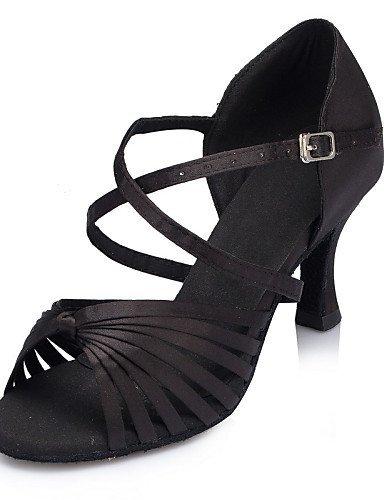 ShangYi Chaussures de danse ( Noir / Bleu / Violet ) - Non Personnalisables - Talon Cubain - Cuir / Cuir Verni - Latine