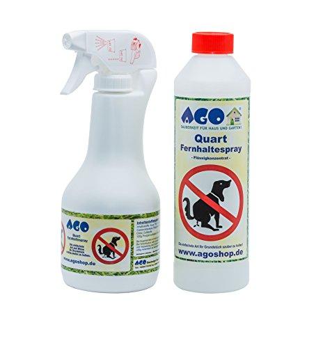 AGO ® Fernhaltespray Set (Hunde & Katzen) 500ml Hochkonzentrat + Handsprüher
