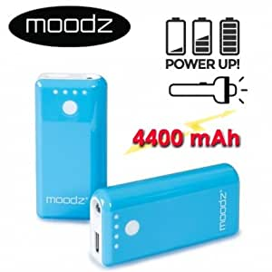 MOODZ - Batterie Recharge USB - MOODZ Power Up + - 4400 mAh - BLEU - Power-bank-4400-BLEU
