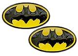 2 X Batman DC Comics Superhero Shield Emblems Real Aluminum Car Laptop Logo Badge Emblems (Pair/Set)