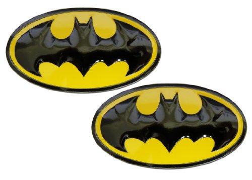 2 X Batman DC Comics Superhero Shield Emblems Real Aluminum Car Laptop Logo Badge Emblems (Pair/Set) (Case Badges Laptop)