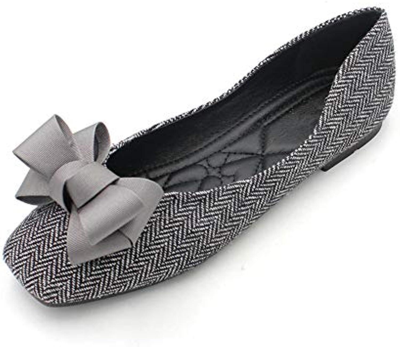 FLYRCX A Strisce Casual Arco Antiscivolo Morbido Fondo Confortevole Scarpe Basse da Lavoro Ufficio Femminile Scarpe... | Qualità e quantità garantite  | Uomini/Donne Scarpa
