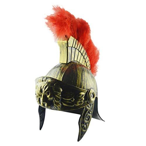 Katurn Helm - Kunststoff Samurai Helm Spartan Hut Mittelalterlichen Römischen Vintage Helm Federmütze