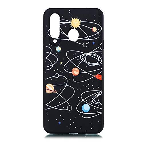 Carols Samsung Galaxy A8s Hülle, TPU Schutzhülle für Samsung Galaxy A8s Case Cover - Milchstraße